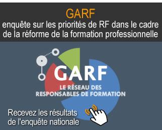 Résultats de l'enquête du GARF sur les priorités dans le cadre de la réforme de la formation professionnelle