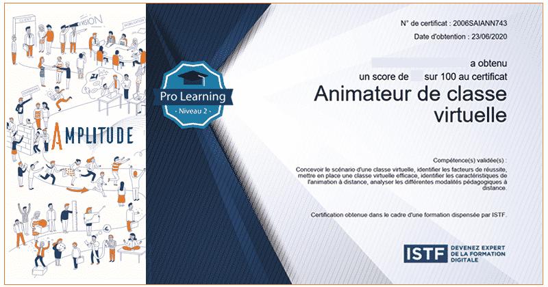 AMPLITUDE certification animateur de classe virtuelle